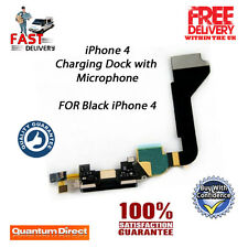 Replacement USB Charging Dock/Port Assembly + Microphone FOR iPhone 4 4G - BLACK