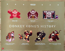 "Donkey Kong's History RARE NES N64 DS 3DS Wii U Club Nintendo 22"" x 28"" Poster"