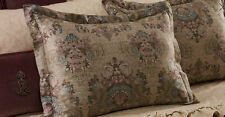 1 New Ralph Lauren Margeaux Medallion Plum Tan King Sham