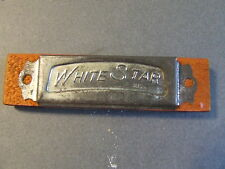 VINTAGE WOOD TIN TOY HARMONICA WHITE STAR JAPAN