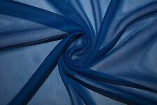 """Royal Chiffon Knit Sheer 60"""" Wide 100% Polyester Sewing Dress Fabric BTY"""