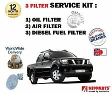 FOR NISSAN NAVARA PICKUP 2.5DT D40 6/2006- NEW OIL AIR FUEL  FILTER SERVICE KIT