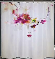 French Models Head With Red Hair Bathroom Shower Curtain Polyester