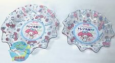 SANRIO MY MELODY KAWAII Round Clear Resin Tray Special Set F/S AIRMAIL JAPAN