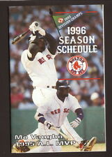Mo Vaughn--1996 Boston Red Sox Schedule--Powerade