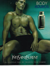 PUBLICITE ADVERTISING 114  2000  YVES SAINT LAURENT  eau de toilette KOUROS BODY