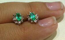 14kt Yellow Gold 5mm Push Back Genuine Birthstone Earring May Emerald
