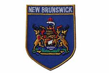 NEW BRUNSWICK  Blue Shield CANADA Provincial Flag IRON-ON PATCH CREST BADGE