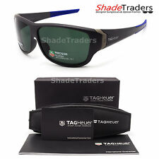 TAG Heuer RACER 2 SUNGLASSES GREY/ BLUE POLARIZED GREEN RACING CYCLING 9225 305
