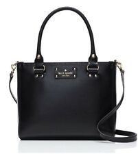 Kate Spade New York Wellesley Boarskin Embossed Cowhide Black Small Quinn New