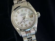 Rolex Datejust Ladies Stainless Steel Watch White MOP Diamond Dial Jubilee Band