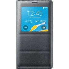Samsung Galaxy Note 4 S-View Flip Cover Case, Black (Original Retail Package)