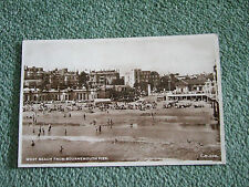 Postcard. West Beach from Bournemouth Pier. Real photo, posted to Twyford, Berks
