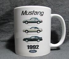 1992 Ford Mustang Line Coffee Cup, Mug - Cool American Classic - Sharp - New
