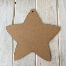 MDF Wood STAR Shape Plaque Blank Make Your Own Plaque Craft Shape