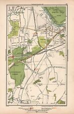 1933 LONDON MAP-EAST MOLESEY,WESTON GREEN,THAMES DITTON,HINCHLEY WOOD,SANDOWN