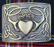 Men's irish Claddagh kilt boucle de ceinture finition antique/celtique kilt belt buckles