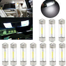 10Pcs 31mm COB Car Festoon Dome Roof LED Vehicle Lamp License Plate Light White