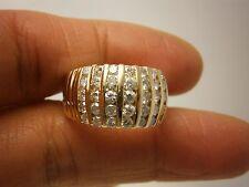 STUNNING 14K YG LADIES DIAMOND BAND RING SIZE 6.5 1.00 CARAT TW  G93114-2