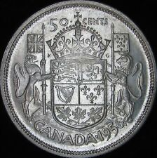 1956 AU Canada Silver 50 Cents (Fifty, Half) - KM# 53 - Free Shipping - JG