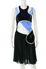 Paco Rabanne Blue Green Stretch Knit Strappy Halter Dress Size FR 38 New 115212