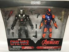 "Marvel Legends Civil War War Machine Iron Man 2016 Target Exclusive 7"" 2 Pack"