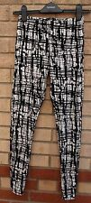 MISO blanc velours noir abstract print fit slim leggings pantalon pantalon 8