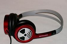 Ear Pollution RED/Gray On-Ear Headphones w/3.5mm Jack