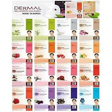 Dermal Korea Collagen Essence Full Face Facial Mask Sheet (16 Combo Pack) New