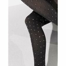 WOLFORD FABIENNE Tights Pantyhose in Black Sz:Large L Ret: $115 New/Packaged