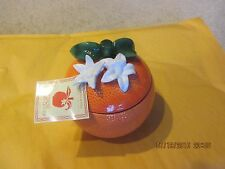 SLATKIN CO. TROPICAL ORANGE FLOWER CANDLE