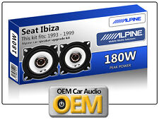 "Seat Ibiza Front Dash speakers Alpine 10cm 4"" car speaker kit 180W Max"