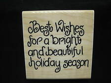 Best Wishes for Holiday Season Rubber Stamp by JRL Design Co