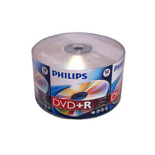 50 PHILIPS Brand Logo Top 16X DVD+R Plus R DVDR Blank Disc Storage Media 4.7GB
