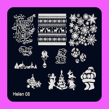 Christmas Manicure Template Nail Art Printing Image Polish Stamp Plate Scraper