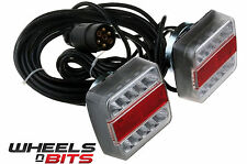 MAGNETIC LED TRAILER TOWING LIGHT BOARD LIGHTS 4 METRE REAR LAMPS TRACTOR BIKES