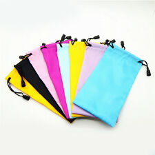 Soft Microfiber Sunglasses Pouch Bag Sunglasses Glasses Waterproof Lanyard Bag