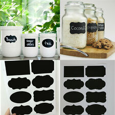 Home kitchen jars with blackboard chalkboard stickers labels