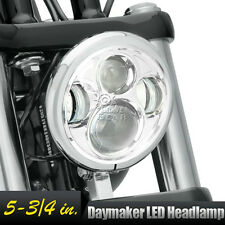 "5.75"" Chrome LED Daymaker Projector Headlight For Harley Softail Deuce FXSTD"