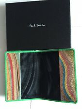 Paul Smith - Passport Holder Cover Saffiano Leather  - Green/ Iconic Swirls