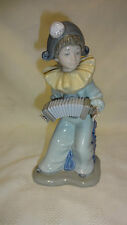 Attractive Lladro Spain Nao Figure - Young Boy/Clown Playing A Concertina