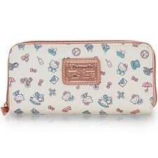 NEW Loungefly X Hello Kitty White/Rose Gold PASTEL Zip Around Wallet -SALE