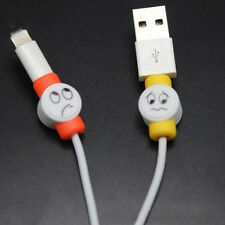 10Pcs Emoji Charger USB Cable Saver Protector For Apple iPhone Random Color