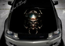 Skull Full Color Graphics Adhesive Sticker Fit any Car Hood Bonnet #237