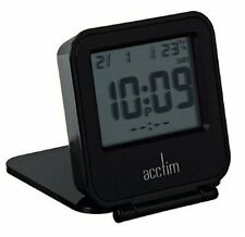 CLEARANCE ITEM Acctim Joy folding travel alarm Clock in Black (our ref 4robp)