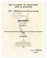 Emmy Nomination for ''The Simpsons'' Given to Sam Simon