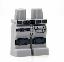 Custom Light Bluish Gray LEGO Army Tactical Legs with direct printed kneepads