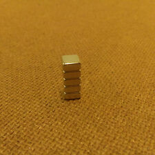 5 Neodymium 1/4 x 1/4 x 1/16 inches Block/Bar Magnet.