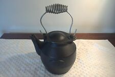VINTAGE CAST IRON TEA KETTLE MADE BY JOHN WRIGHT WRIGHTSVILLE PA.
