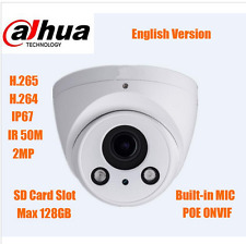 DAHUA English 2MP POE IR Eyeball IP Camera IPC-HDW5231RP-Z sd slot Starlight
